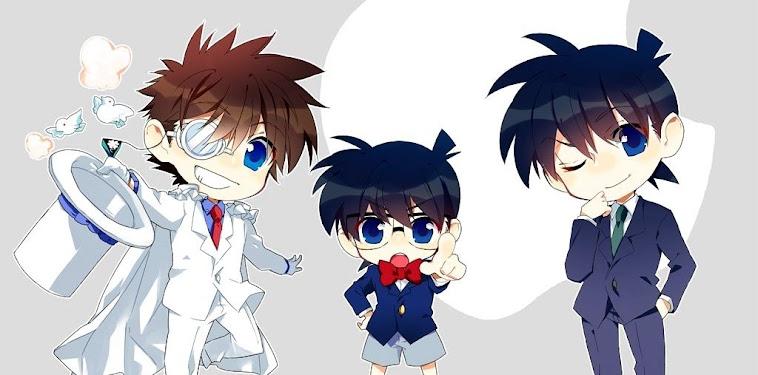 Kaito Kid X Shinichi Chibi