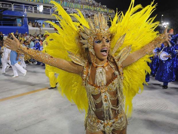 Paraíso do Tuiuti - As cores da escola são azul e amarelo (Foto: G1/Alexandre Durão)