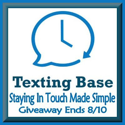 Blogger Opportunity: Texting Base Giveaway sign ups end 7/21 ~ FREE & PAID OPTIONS AVAILABLE
