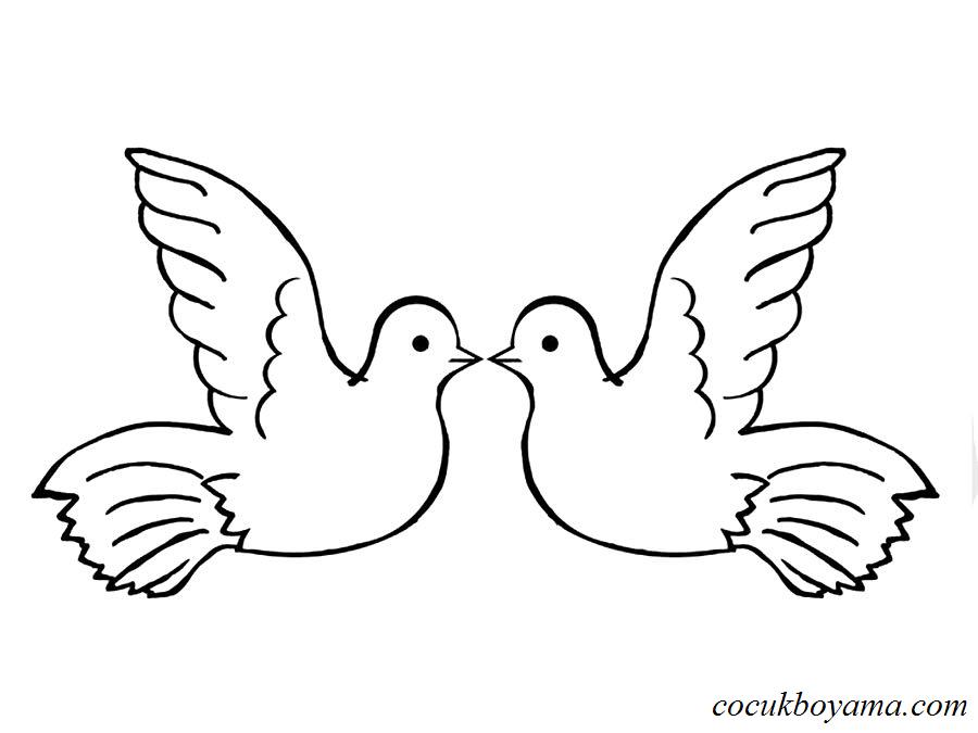 Güvercin 29 ücretsiz Boyama Resimleri