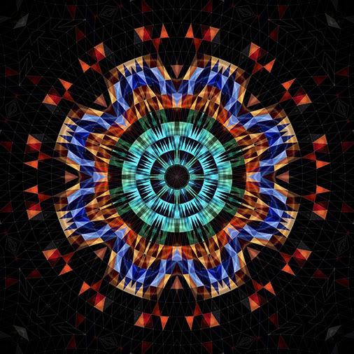 Geometric Art: Kaleidoscope, Circular and Triangular Composition, iPad Apps, Mobile. Computer, Tablet