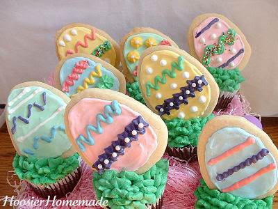 easter cupcakes fondant. my Easter Egg Cupcakes