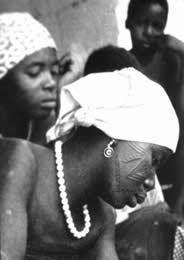 Tattooed Makonde  women, circa 1960