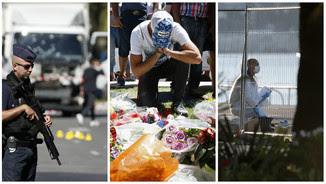 Imatges de l'escenari de l'atemptat a Niça (Reuters)