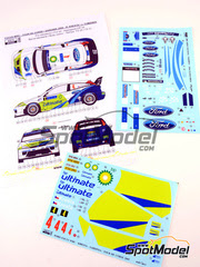 Reji Model: Calcas escala 1/24 - Ford Focus WRC BP Nº 4 - Roman Kresta (CZ) + Jan Tománek (CZ) - Rally Tour de Corse 2005 - para kit de Hasegawa 20240, 20264.