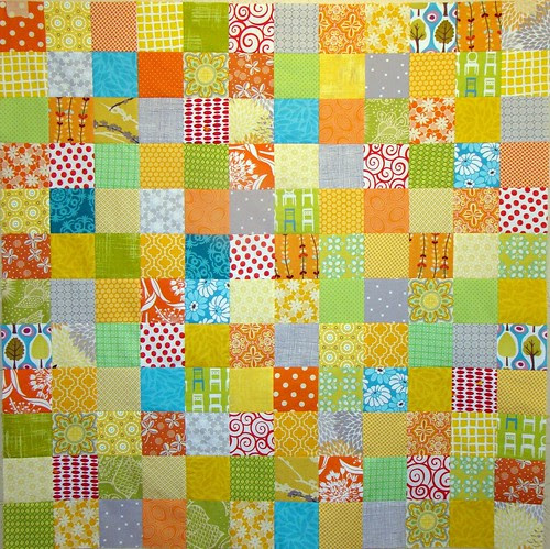 Citrus Berry Punch baby quilt top