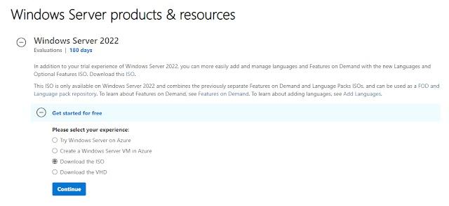 Download and Install Windows Server 2022 GA