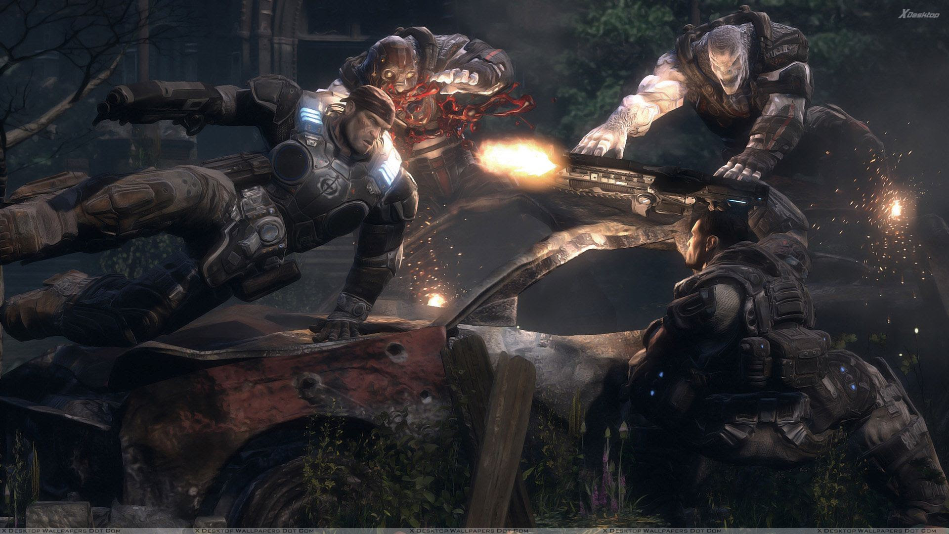 Gears Of War Attacking Wallpaper