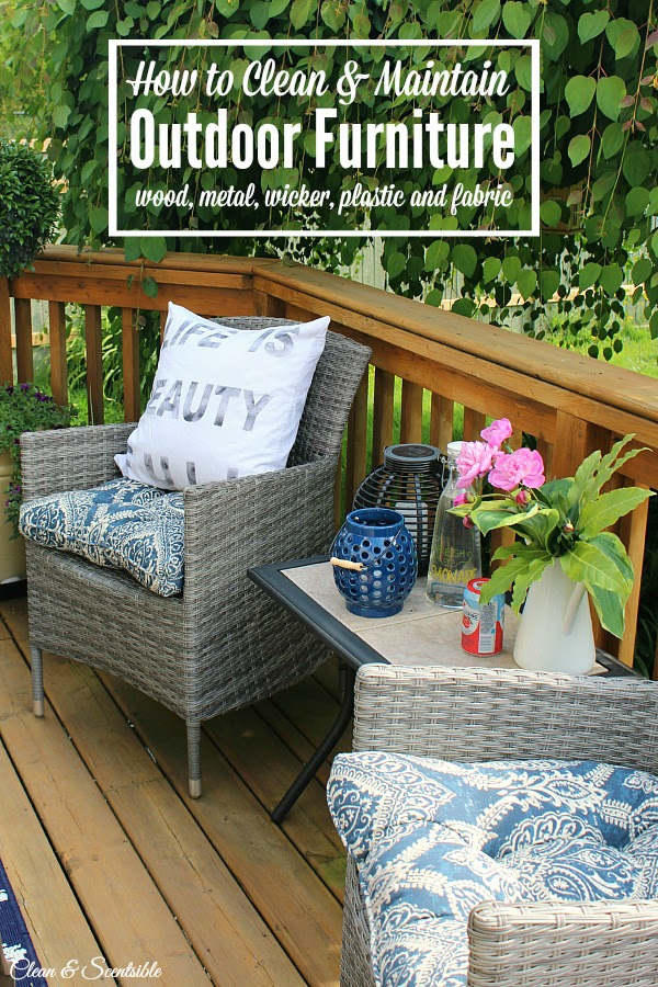 How to Clean Patio Furniture - Clean and Scentsible