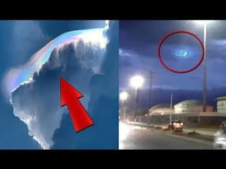 ¿Señales de un terremoto en México? Captan nube arcoiris y un impresionante OVNI