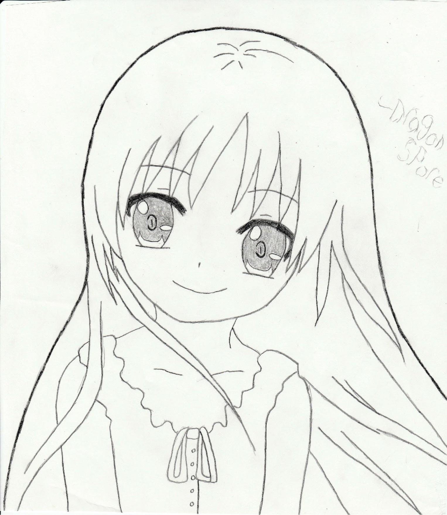 1526x1757 Cute anime girl by Kiri Akuma on DeviantArt