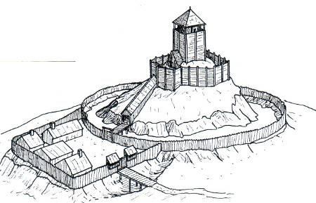 armée féodale, armement, château fort, motte castrale, motte féodale, poliorcétique médiévale, Reconstitution, tour de bois, tour de pierre