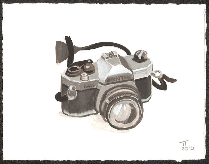 Pentax K1000 painting by Tim Thayer