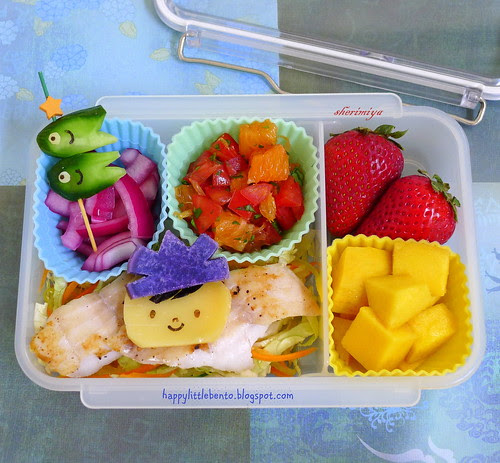 Children's Day (こどもの日 Kodomo no Hi) Fish Slaw Bento by sherimiya ♥