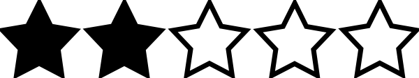 Image result for two star rating image
