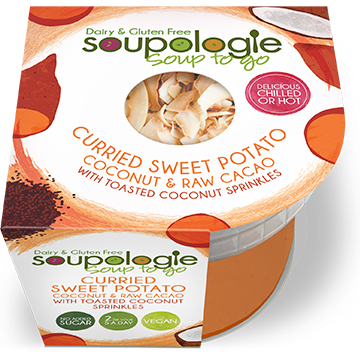 SOUPOLOGIE SOUP TO GO CURRIED SWEET POTATO WITH TOASTED COCONUT SPRINKLES