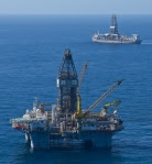 BP oil rig at Macondo site