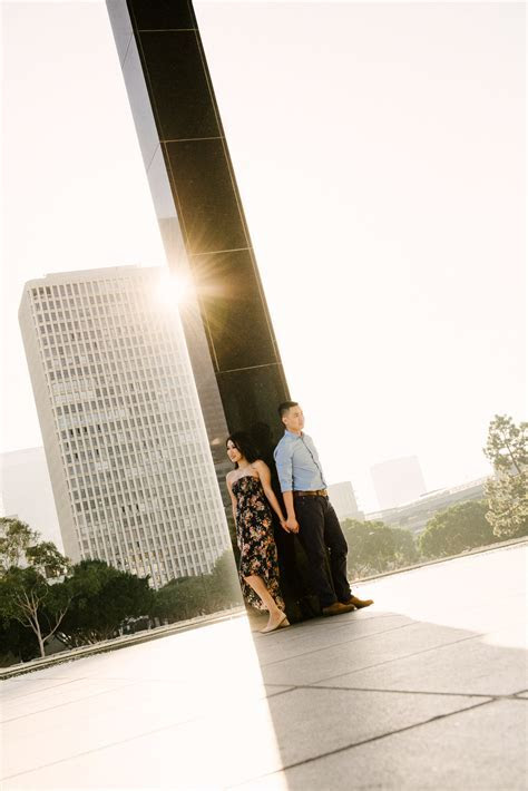 Downtown Los Angeles engagement   Sara & Andrew   Los