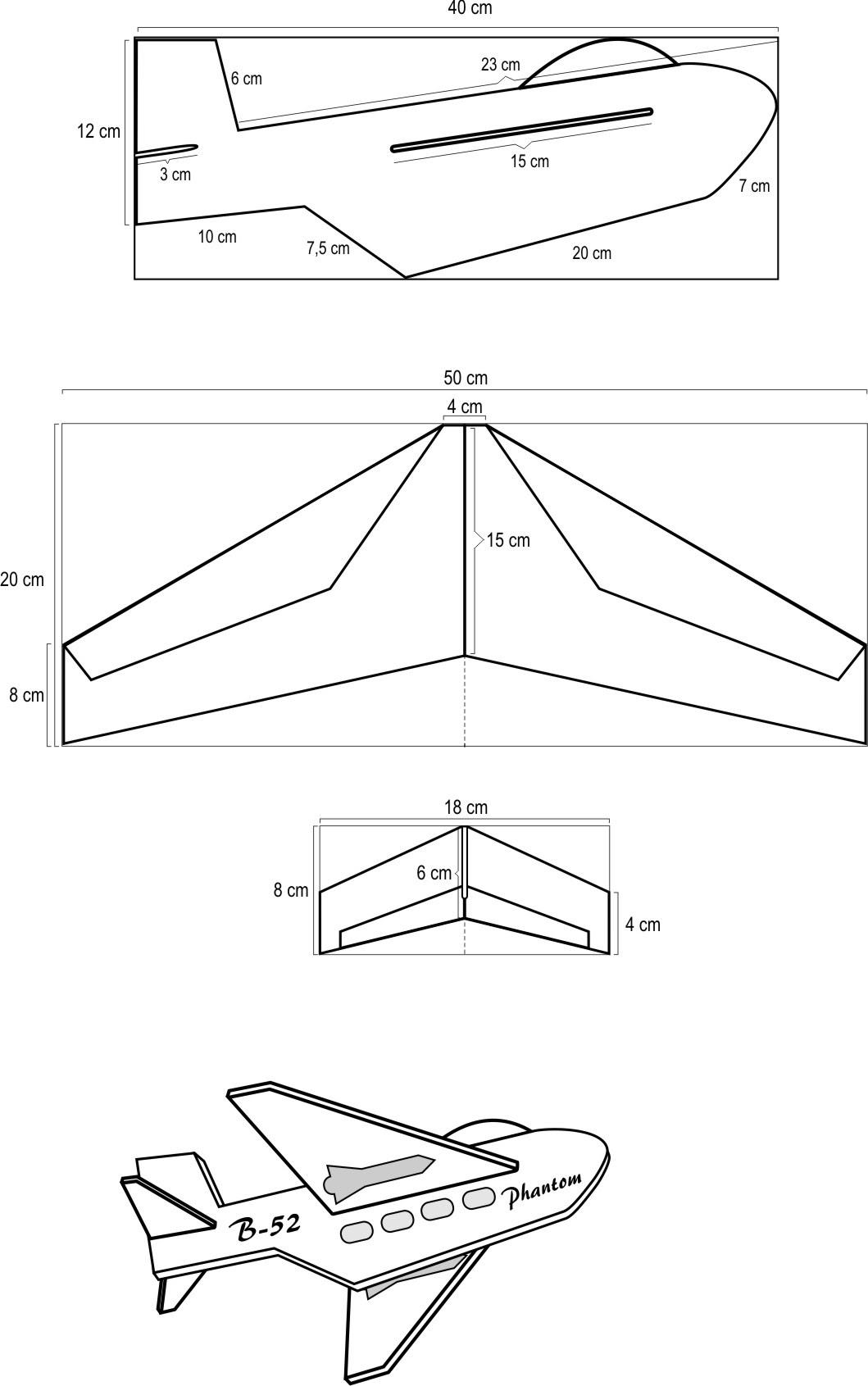 Cara Membuat Pesawat Kertas Yang Bisa Terbang Super Jauh: Kerangka Layang Layang - GAMBAR