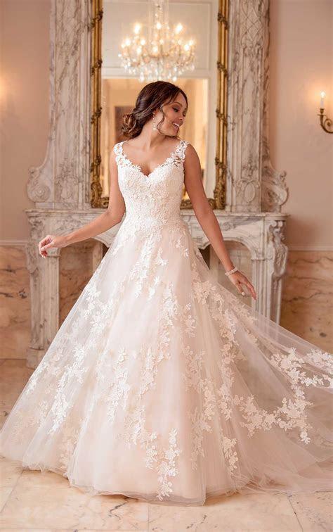 Garden Inspired A Line Wedding Dress   Stella York Wedding