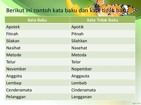 bahasa indonesia kata baku ibuhan asing penggunaan koma