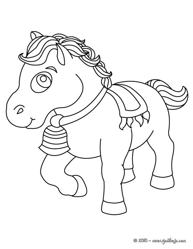 Dibujos Para Colorear Bebe Poni Es Hellokids Com