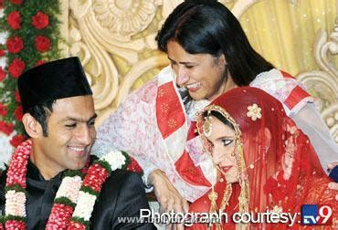 Sania Mirza Weddin Photos with Shoaib Malik   Xossip