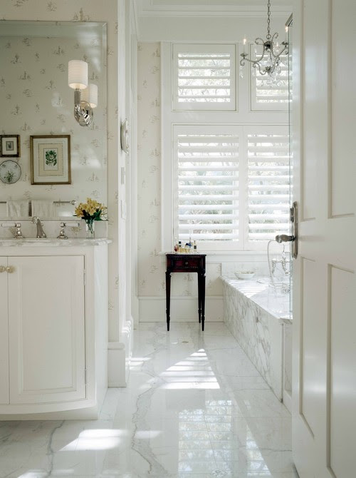White Bathroom Spaces - Interior Design Photos | Live Love in the Home