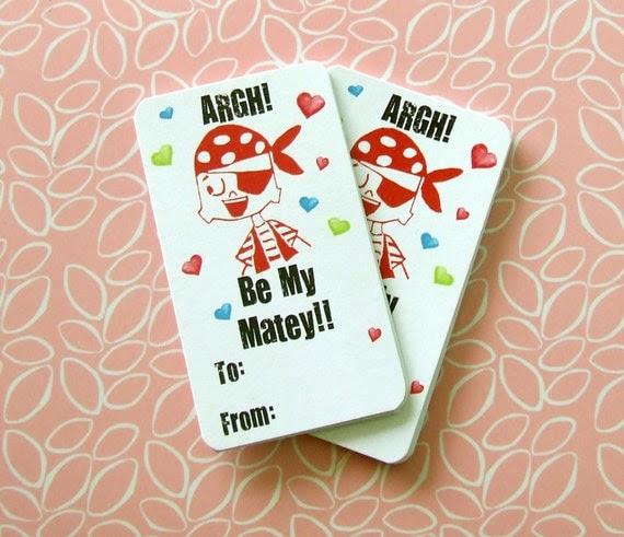 Petey Pirate Valentines -Set of 10