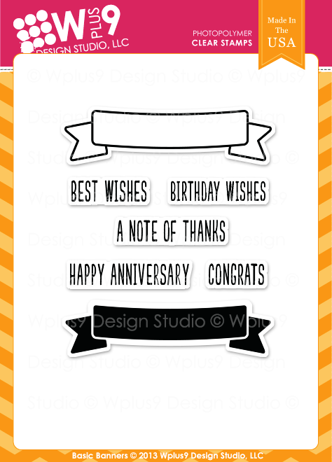 Wplus9 Basic Banners Stamp Set