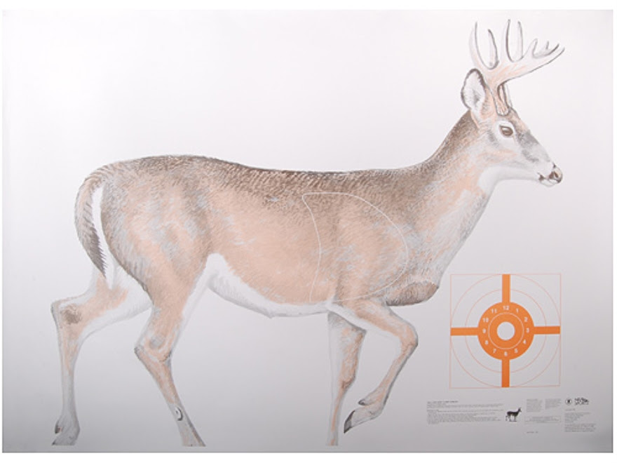Official Lifesize Game Targets White Tail Deer Paper Package of 12