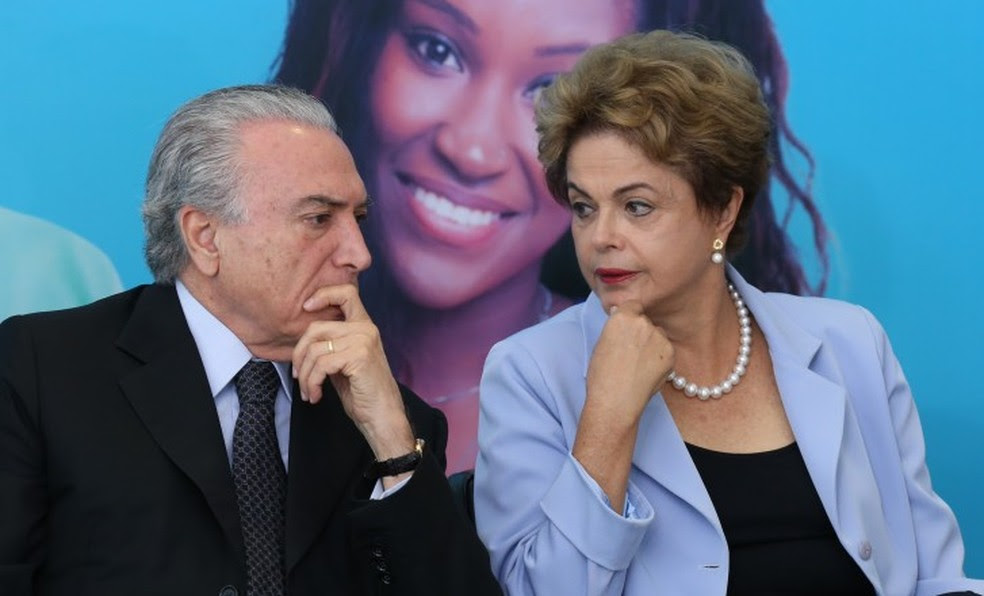 O presidente Michel Temer e a ex-presidente Dilma Rousseff (Foto: Lula Marques/ Agência PT)