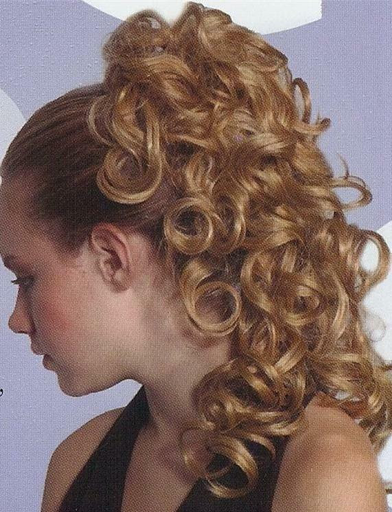 Blond Curly Ponytail Hairpiece  w Drawstring Pageant Bun