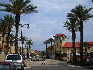 A mall in Destin, Florida