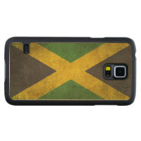 Vintage Distressed Flag of Jamaica Carved® Maple Galaxy S5 Slim Case