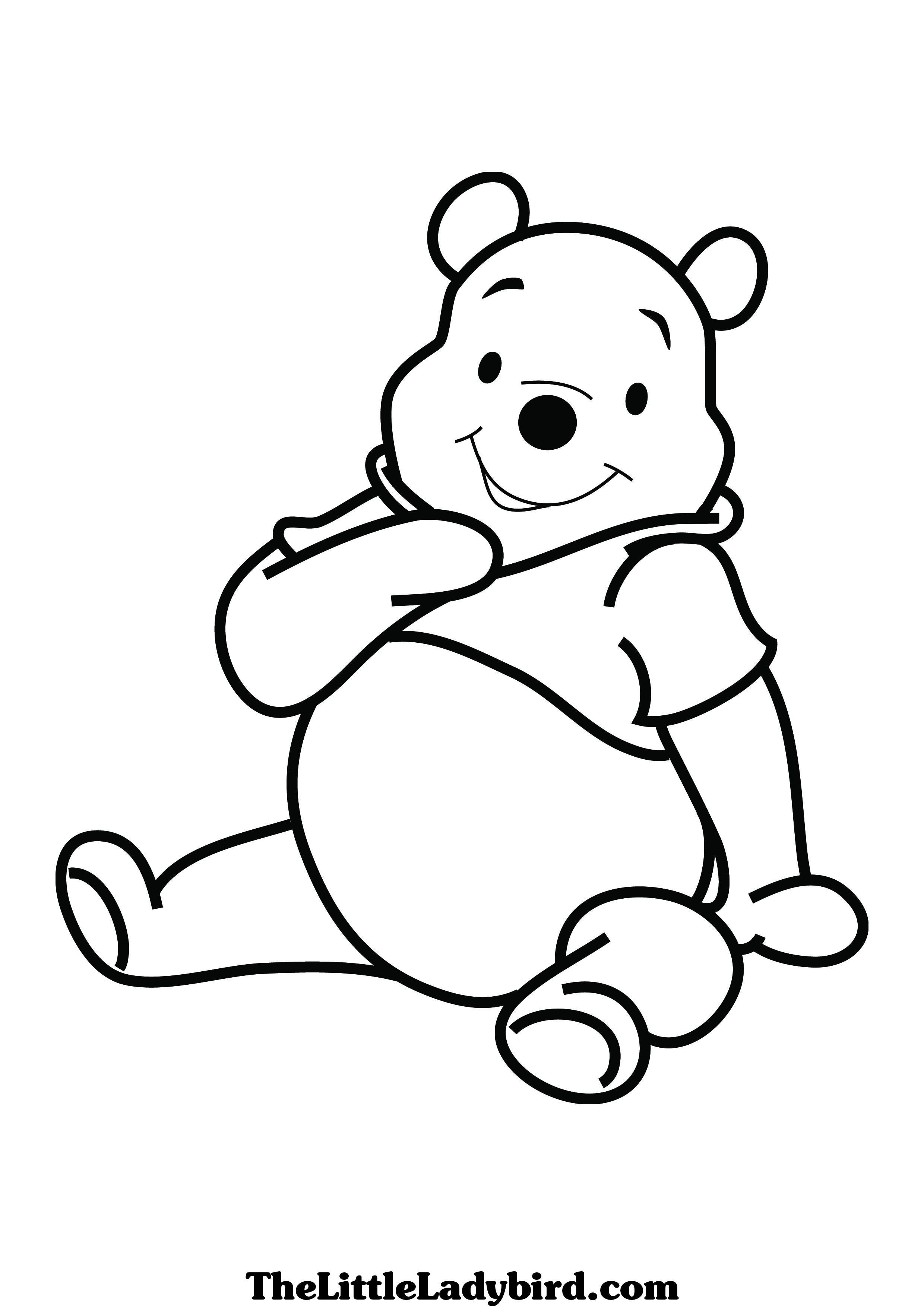 Vintage Classic Winnie The Pooh Coloring Pages Super Kins Author
