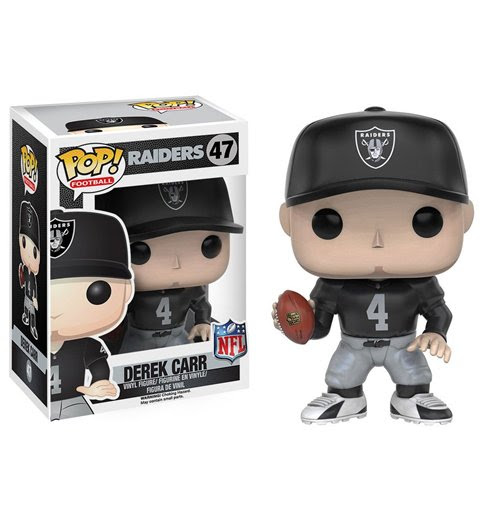 Buy Official NFL POP! Football Vinyl Figure Derek Carr Raiders 9 cm