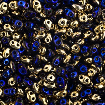 67902022 Czech Seedbeads - 2 Hole Twins - California Blue