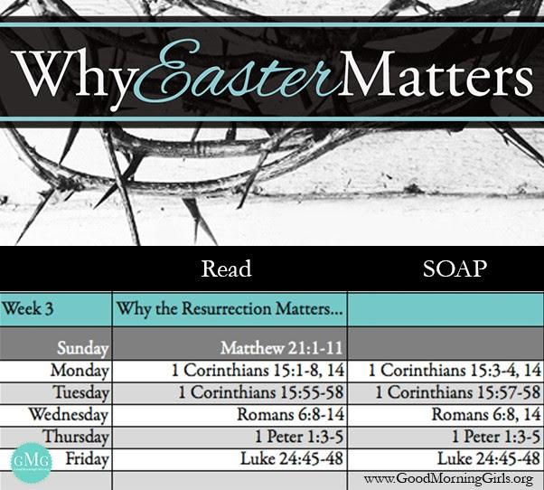 Week 3 Reading Plan