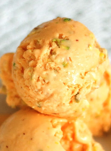 porgandijäätis pistaatsiapähklitega/carrot ice cream with pistachios