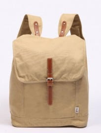 Shore Leave Beige Canvas Slouch Rucksack