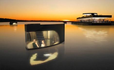 floating hotel room