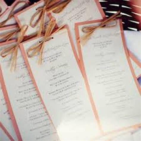 How To Make Wedding Ceremony Programs: 6 Ideas   Daily