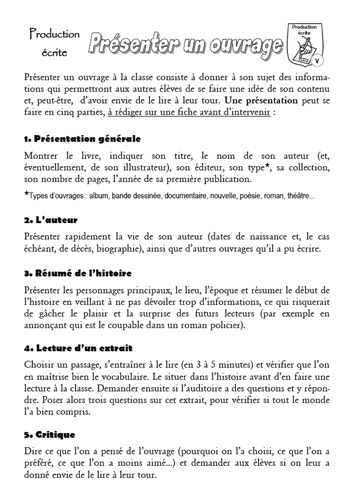 Exemple De Critique D Un Livre - Le Meilleur Exemple