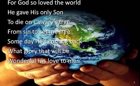 For God So Loved The World Lyrics Alfred B Smith