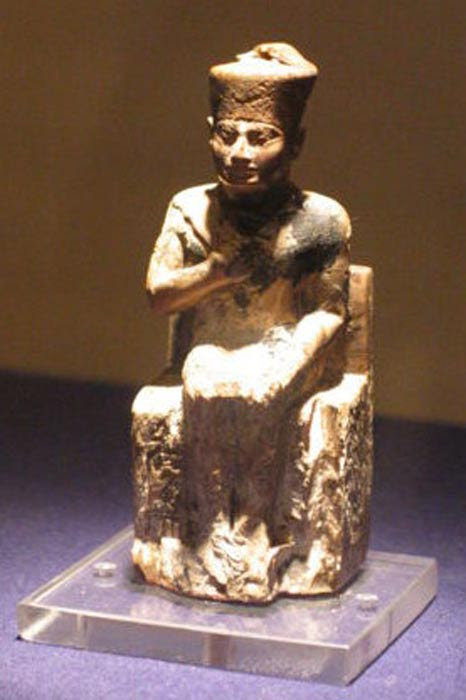 Statue of Khufu in the Cairo Museum.