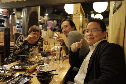 With Juke (Aditya Assarat) and Naoko Ogigami