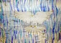 Flag Holy Spirit Rain Down Hand Painted Silk Worship Flag