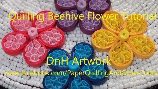 Quilling Sanatı Arı Kovanı Biçiminde çiçekler