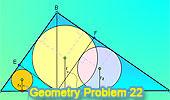 Problema 22: Triángulo rectangulo, Altura, Perpendicular, Inradios.